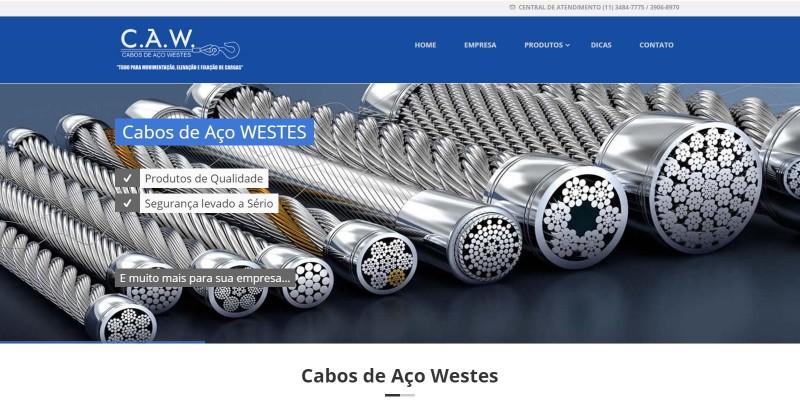 Cabos de Aço Westes - Fabricante de Cabos de Aço e Acessórios